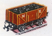 Open Wagon With Coal Load