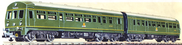 Diesel Railcar Train Set