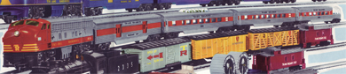 Transcontinental Passenger Train Set