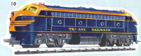Double-ended Diesel Locomotive - Non Powered (TRI-ANG RAILWAYS)