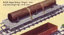 Bogie Bolster Wagon With Log Load