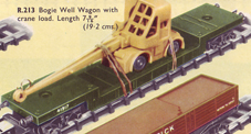 Bogie Well Wagon With Crane Load