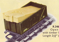 Open Wagon With Timber Load