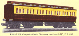 G.W.R. Third Class Clerestory Coach