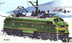 Double-ended Diesel Locomotive With Working Pantographs (Transcontinental)