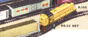 Transcontinental Diesel Freight Train Set
