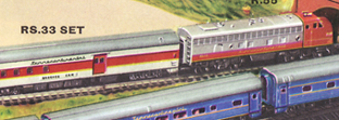 Transcontinental Express Passenger Train Set