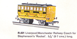 Liverpool/Manchester Railway Coach