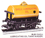 Shell Lubricating Oil Tank Wagon