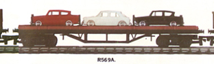 Bogie Bolster Wagon With 3 Cars (Aust)