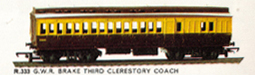 G.W.R. Brake Third Clerestory Coach