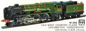 West Country Class Locomotive - Dorchester