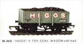 Higgs 12 Ton Coal Wagon with Load