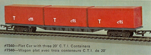 60ft Flat Car With Three 20ft CTI Containers (Canada)