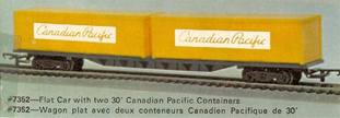 60ft Flat Car With Two 30ft Canadian Pacific Containers (Canada)