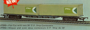 60ft Flat Car With Two 30ft C.P. Ships Containers (Canada)