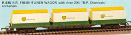 Freightliner Wagon - 3 20ft Tank Containers - B.P. Chemicals
