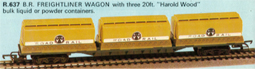 Freightliner Wagon - 3 20ft Tank Containers - Harold Wood
