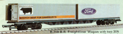 Freightliner Wagon - 2 30ft Containers - Ford & Sainsburys
