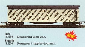Newsprint Box Car (Canada)