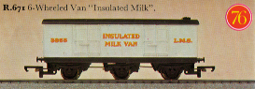 L.M.S. 6 Wheel Insulated Milk Van