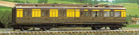 G.W.R. Clerestory Brake 3rd Coach