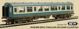 B.R. DMU Trailer Second Class 163