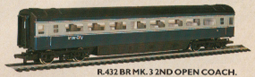 B.R. Mk.3 2nd Open Coach (8 Window)