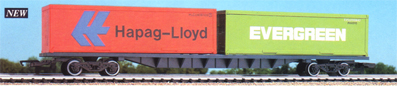 Hapag-Lloyd and Evergreen Freightliner Container Wagon