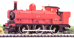 Red 0-6-0PT Locomotive