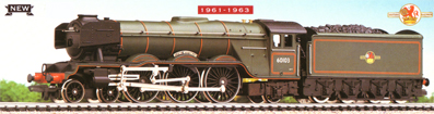 Class A3 Locomotive - Flying Scotsman - 1961 - 1963