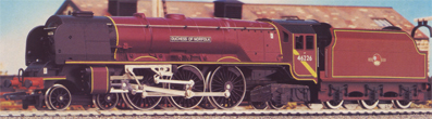 Coronation Class 8P Locomotive - Duchess Of Norfolk