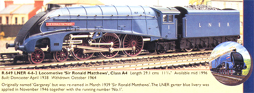 Class A4 Locomotive - Sir Ronald Matthews (Royal Doulton)
