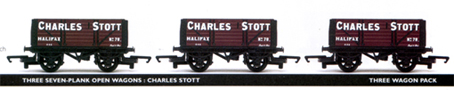 Charles Stott 7 Plank Open Wagon - Three Wagon Pack