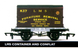 L.M.S. Container And Conflat Wagon