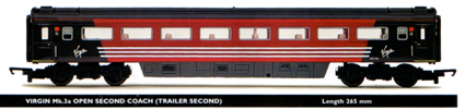 Virgin Mk.3a Open Second Coach (Trailer Second)
