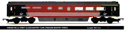Virgin Mk.3a First Class Buffet Car (Trailer Buffet First)