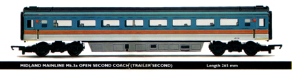 Midland Mainline Mk.3a Open Second Coach (Trailer Second)