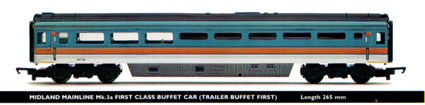 Midland Mainline Mk.3a First Class Buffet Car (Trailer Buffet First)
