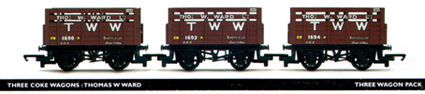 Thomas W Ward Coke Wagon - Three Wagon Pack