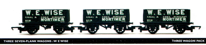 W E Wise 7 Plank Wagon - Three Wagon Pack