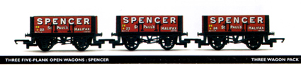 Spencer 5 Plank Open Wagon - Three Wagon Pack