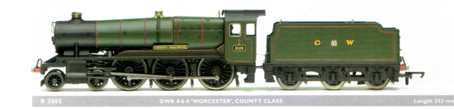 County Class Locomotive - County Of Worcester