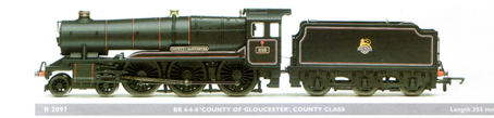 County Class Locomotive - County Of Gloucester