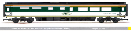 GWT Mk.3 First Class Buffet Car (Trailer Buffet First)