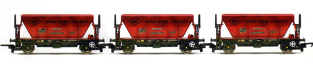 Readymix Concrete Procor Hoppers - Three Wagon Pack (Weathered)