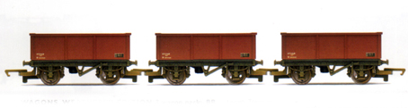 B.R. Mineral Wagons - Three Wagon Pack (Weathered)