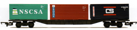 Container Wagon (3 x 20ft) - NSCSA, Cronos and Contship