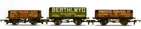 Mark Williams, Berthlwyd and Pontithel Open Wagons - Three Wagon Pack (Weathered)