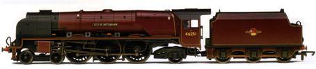 Princess Coronation Class Locomotive - City Of Nottingham (Weathered)